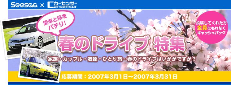 春のドライブ特集 | カーセンサー.net
